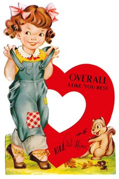 'overall i like you best' vintage valentine card