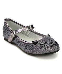 Look at this Jelly Beans Pewter Glitter Mao Cat Mary Jane on #zulily today!