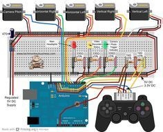 PS2 Controller, Arduino, and Servo Circuit