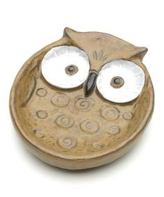 Take a look at this Sepia & White Eyes Owl Large Plate by Kotobuki Trading on #zulily today!