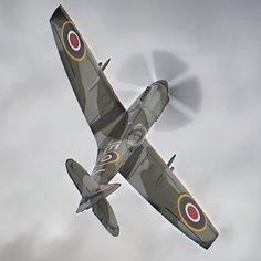 Vintage Planes Supermarine Spitfire LF Mk XIV in moody skies at Duxford Battle of Britain Airshow 2017 - Ww2 Aircraft, Fighter Aircraft, Military Aircraft, Fighter Jets, Supermarine Spitfire, Ww2 Spitfire, The Spitfires, Ww2 Planes, Pilot