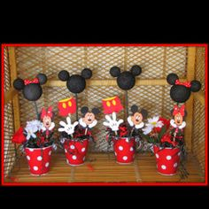 Mickey Mouse Centerpieces idea