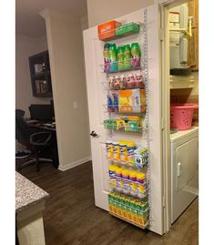 ClosetMaid Over-the-Door Adjustable Wire Rack - White : Target Organize Craft Closet, Organizing Bathroom Closet, Organize Small Pantry, Organize Cleaning Supplies, Storage Room Ideas, Organization Ideas For The Home, Small Pantry Closet, Pantry Closet Organization, Small Kitchen Pantry