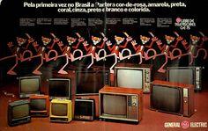 Televisores GE 75 #Brasil #anos70 #retro #anunciosAntigos #vintageAds