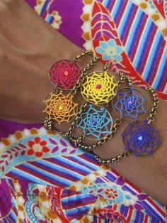 New jewels to covet Dream Catcher Jewelry, Dream Catchers, Fashion Beauty, Jewels, Crafty, Crochet, How To Make, Stuff To Buy, Website