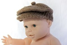 KNITTING PATTERN PDF Newsboy Cap Brimmed Cap Baby Boy Cap | Etsy