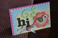 Crafty Polly card using Maya Road felt embellishment.