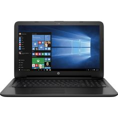 """HP - 15.6"""" Laptop - AMD A6-Series - 4GB Memory - 500GB Hard Drive - Black - Front Zoom"""