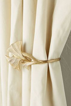 Explore Curtain Hardware at Anthropologie, from everyday classics to one-of-a-kind styles. Drapery Tie Backs, Curtain Tie Backs, Curtain Patterns, Curtain Designs, Home Decor Accessories, Decorative Accessories, Restauration Hardware, Inside A House, Curtain Holder
