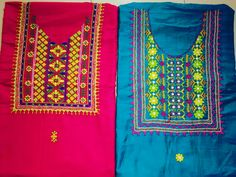 Kutch Work, Embroidery Neck Designs, Neck Pattern, Needle And Thread, Salwar Suits, Patterns, Projects, Embroidered Blouse, Dressmaking