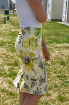 Ruffled Pencil Skirt Pattern | AllFreeSewing.com