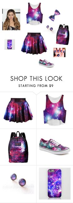 """""""Galaxy"""" by royalelizahearrbeat ❤ liked on Polyvore featuring JanSport and Vans"""