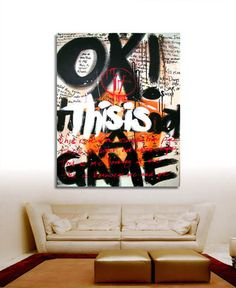 Adding life to the office or any other workspace is where we excel. You can have full colour inspiring graffiti artwork murals or little colour here & there Graffiti Canvas Art, Graffiti Artwork, Graffiti Painting, Abstract Canvas Art, Street Art Graffiti, Stencil Graffiti, Banksy Graffiti, Murals Street Art, Office Mural