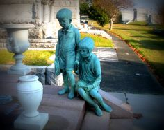 Metairie Cemetery is a cemetery in New Orleans. I love taking pictures there.  It really is something to see. Photograph by Denise Leahart