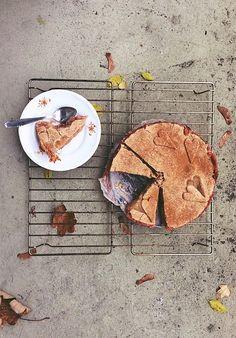 Buckwheat apple and rose pie