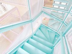 Baby blue stairs tumblr photography aesthetic