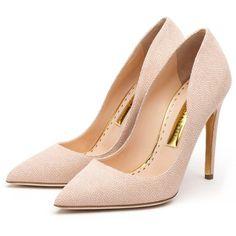 Rupert Sanderson High Heel Pumps (€615) ❤ liked on Polyvore featuring shoes, pumps, heels, sapatos, rupert sanderson, rupert sanderson shoes, high heel pumps, high heel shoes and heel pump