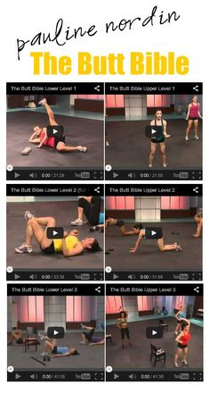 Pauline Nordin - The Butt Bible Real time online workouts, upper and lower body.