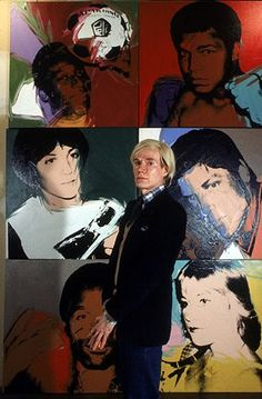 Andy Warhol with his Pop Art.