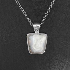 Hand Made Sterling Silver Dreamy Druzy Quartz Pendant Jewelry Taxco Mexico #Handmade #Dreamy #Druzy