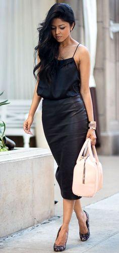 Black Pencile Skirt Chic