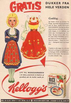 Kelloggs' paper dolls, 1958 (?) - Norway
