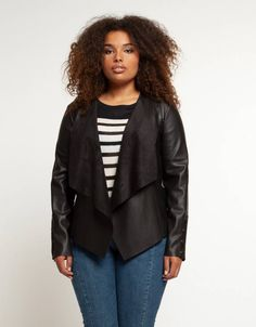 Shopping at LUCY Clothing is like shopping in your best friend's closet! Lucy Clothing, Waterfall Jacket, Stylish Jackets, Curvy Plus Size, Faux Leather Jackets, Boutique Clothing, Plus Size Outfits, Cool Designs, Sleeves