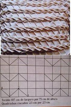 Embroidery Fabric Manipulation Smocking Tutorial 26 Ideas For 2019 Smocking Tutorial, Smocking Patterns, Fabric Patterns, Sewing Patterns, Smocking Baby, Embroidery Fabric, Hand Embroidery Designs, Embroidery Stitches, Textile Manipulation