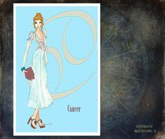 Cancer fashion illustration Greeting Card by MedusasEmporium2