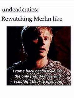 Aaaaaaah. True Story. Seriously. I tried so hard not to ship Merlin and aurther but the second time through I was just like welp. There are the feels