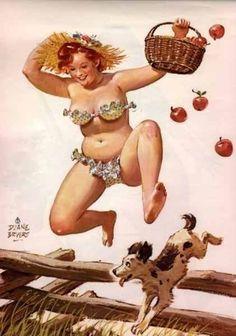 """Hilda jump apples.  """"Hilda is brilliant!""""  nk"""