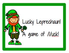 Lucky Leprechaun /l/ sounds articulation game. Pinned by SOS Inc. Resources. Follow all our boards at pinterest.com/sostherapy for therapy resources.