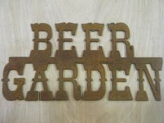 Rusted Rustic Metal Beer Garden Sign by RockinBTradingCo on Etsy, $14.00  www.rockinbtrading.com