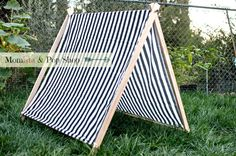 A-Frame Play Tent for Kids with Black and White Stripes Cover // Etsy: Momista & Pop Shop by MomistaBeginnings