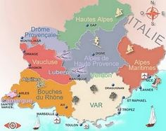 Map of Provence, France #Provence #France #Europe #culture #travel