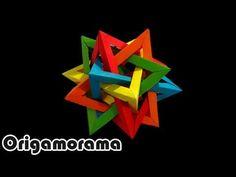 ▶ Haz un TETRAEDRO INTERSECTADO (5 intersecting tetrahedra) - YouTube