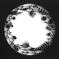 Botanical Paper Cut Lace - Botanical Circle. By MrYen, via Etsy.
