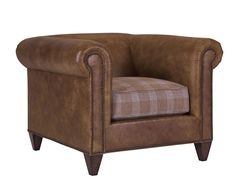 Bracken Lounge Chair This chair is a beautiful design that pays homage to the classic look of the Chesterfield sofa without the traditional tufting.  The clean lines and great scale make it very versatile.  Depending on fabric selection, the Bracken chair can work in transitional settings, traditional rooms, or modern atmospheres.