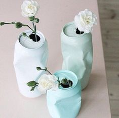for the right event these are fun.DIY upcycling of cans with spray paint / Vase aus Dose selber machen Diy Tumblr, Diy Y Manualidades, Ideias Diy, Diy Art, Diy And Crafts, Diy Projects, Canning, Handmade, Gifts