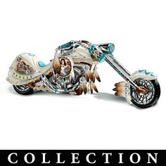 Native American Inspired Motorcycle Figurine Collection $60