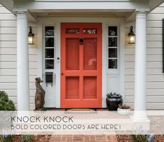 Ideas for Colored Front Door -- Catherine French Design - Chapel Hill