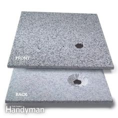How to Cut Tile With a Grinder. Small holes in stone tile. Read more: http://www.familyhandyman.com/tiling/tile-installation/how-to-cut-tile-with-a-grinder/view-all