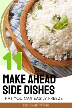 Make ahead freezer meals can save a ton of time - and you can also use the same idea to make side dishes! Check out these 11 simple side dishes that you can make ahead and pop in the freezer, then just cook when needed Side Dishes For Chicken, Pasta Side Dishes, Potato Side Dishes, Healthy Side Dishes, Dinner Dishes, Vegetable Side Dishes, Side Dishes Easy, Side Dish Recipes, Food Dishes