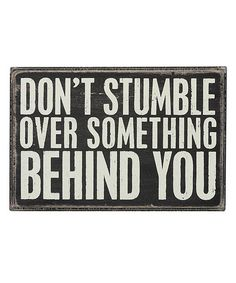 Don't Stumble Over Something Behind You. #zulilyfinds