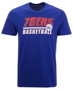 47 Brand Men s Philadelphia 76ers Fade Back Super Rival T-Shirt - Blue L 7f1c811cd