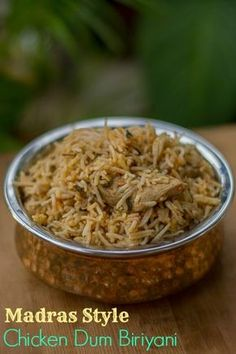 Made using the Dum method. Tastes good with mutton too. Chicken Biryani Recipe Indian, Indian Chicken Recipes, Veg Recipes, Indian Food Recipes, Vegetarian Recipes, Cooking Recipes, Ethnic Recipes, Curry Recipes, Recipies