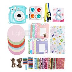 Fujifilm Instax Mini 8 Instant Photo Polaroid Camera Accessory Kit Gift Case & Sticker (No Camera Included) - CAD $48.64