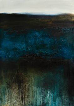 """Saatchi Art Artist: xanthippe tsalimi; Oil 2011 Painting """"deep blue"""""""