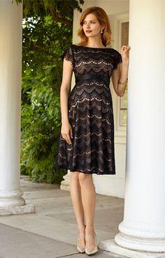 Harriet Maternity Dress Short Black/Dusk by Tiffany Rose