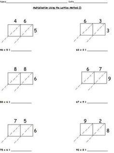 Spooky Lattice Multiplication | Worksheet | Education.com
